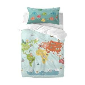 Detské obliečky z čistej bavlny Happynois World Map, 115×145 cm