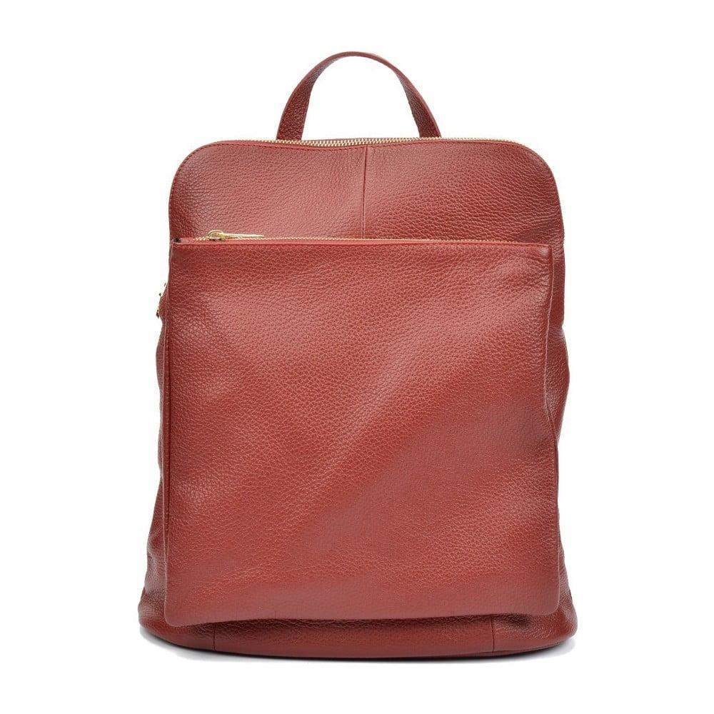 Červený dámsky kožený batoh Isabella Rhea Gunna Rosso