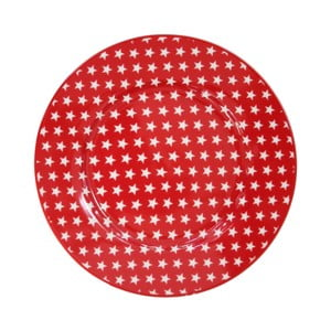 Dezertný tanier Krasilnikoff Stars Red