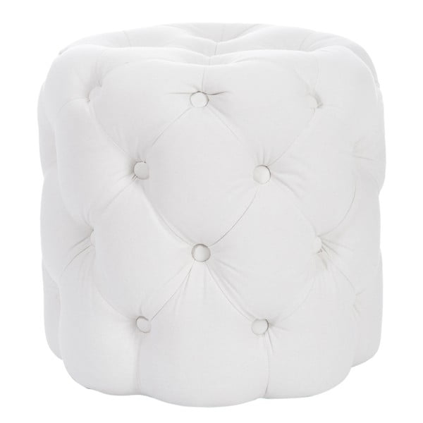 Biela taburetka J-Line Hassock Button