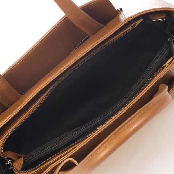 Svetlohnedá kožená kabelka Giorgio Costa Brescia