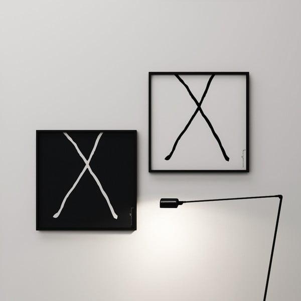 Plagát Litera X, 50x50 cm