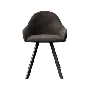 Tmavosivá jedálenská stolička s čiernymi nohami MESONICA Brook