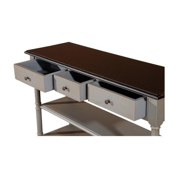 Odkladací konzolový stolík s 3 zásuvkami Transilvania, 120 cm
