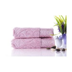 Sada 2 uterákov Hanzade Pink, 50x90 cm