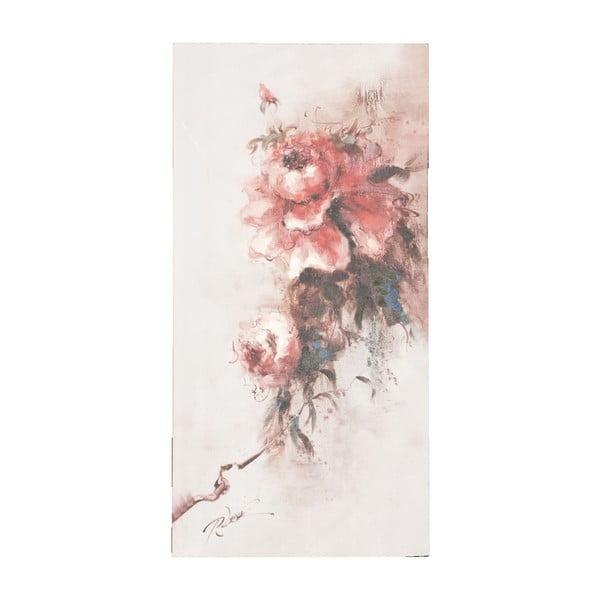 Obraz s ružou Clayre, 60x120 cm