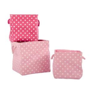 Sada 3 košíkov Pink Universe