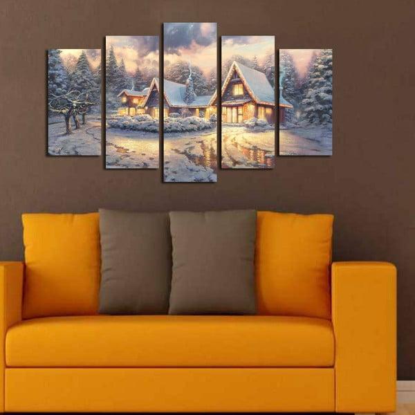 Päťdielny obraz Christmas