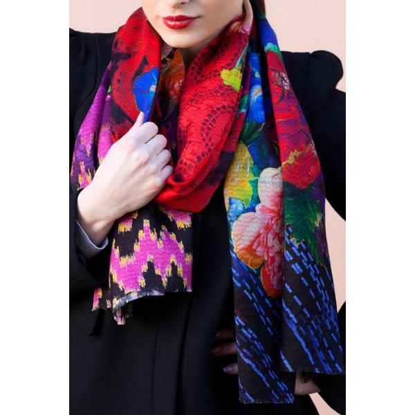 Vlnená šatka Shirin Sehan Valeria