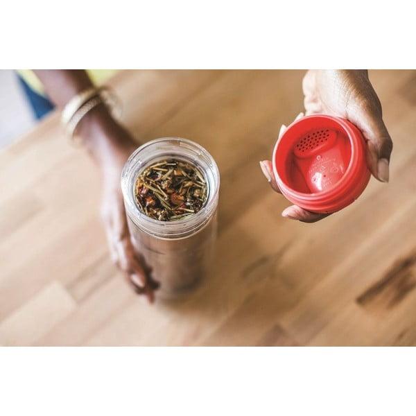 Hrnček s infuzérom na čaj Aladdin 350 ml, červený