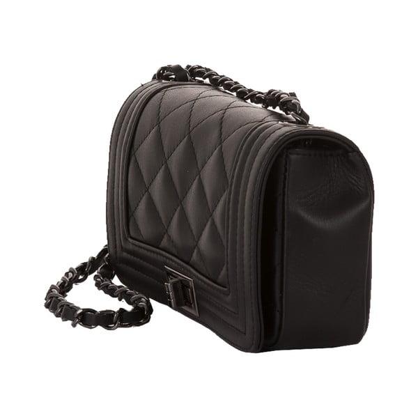 Čierna kožená kabelka Andrea Cardone Felisa