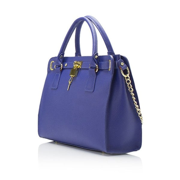 Modrá kožená kabelka Giulia Massari Clementine