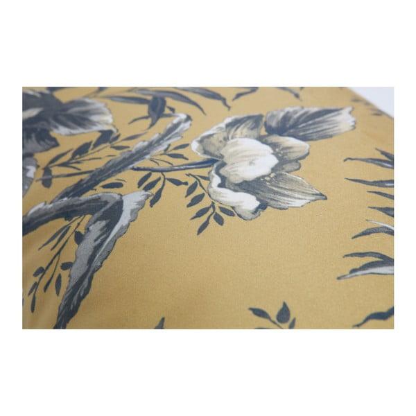 Horčicovohnedý vankúš s motívom kvetín De Eekhoorn Vogue, 40×60cm
