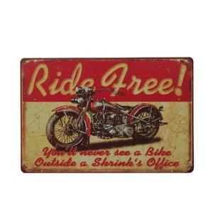 Ceduľa Ride Free, 20x30 cm