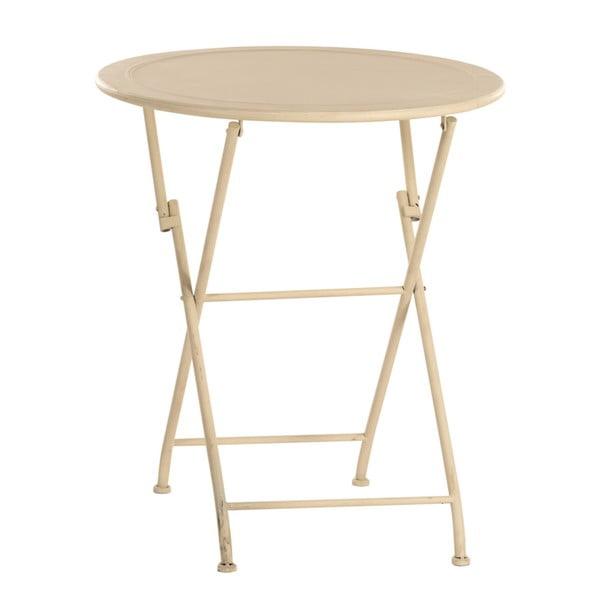 Kovový stolík Romance, slonovinová kosť