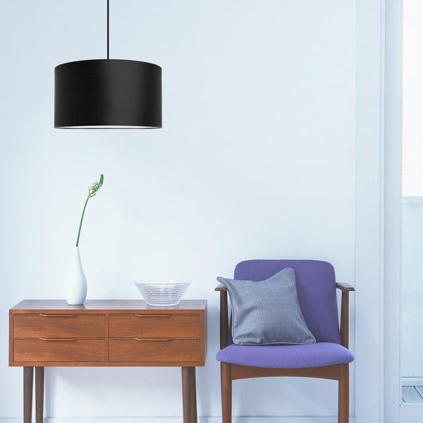 Stropná lampa Tres, čierna, priemer 36 cm
