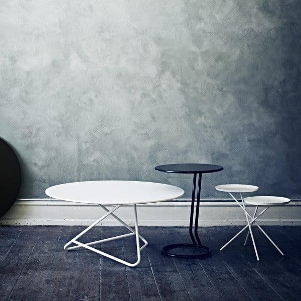 Biely stôl Softline Tribeca, 75 cm