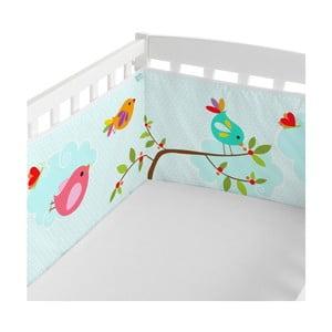 Textilná ohrádka na postieľku Little W Happy Spring, 210x40 cm
