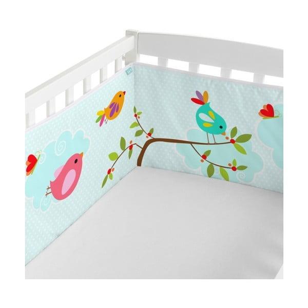 Textilný mantinel do postieľky Little W Happy Spring, 210×40cm
