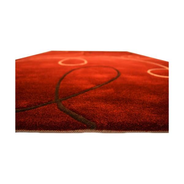 Ručne tkaný koberec Pluto, 170x240 cm, červený