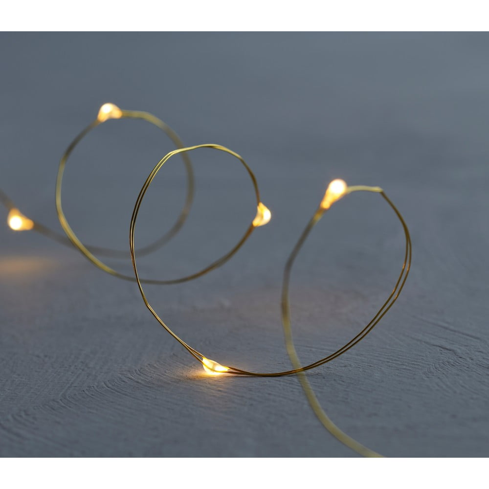 Svetelná LED reťaz Sirius Knirke Gold, dĺžka 3,9 m