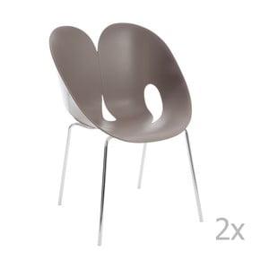 Sada 2 sivých stoličiek J-Line Jens