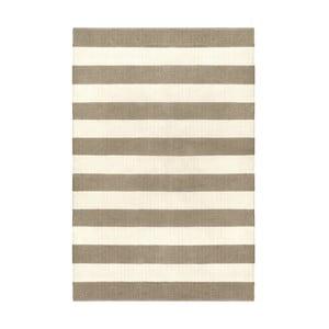 Sivo-hnedý obojstranný koberec vhodný aj do exteriéru Green Decore Highway, 120 × 180 cm