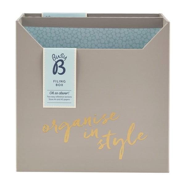 Sivý stolový organizér Busy B Filing Box