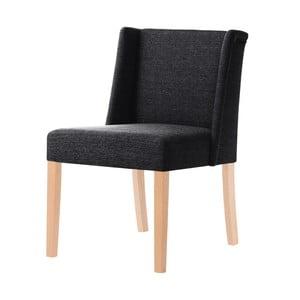 Čierna stolička s hnedými nohami Ted Lapidus Maison Zeste