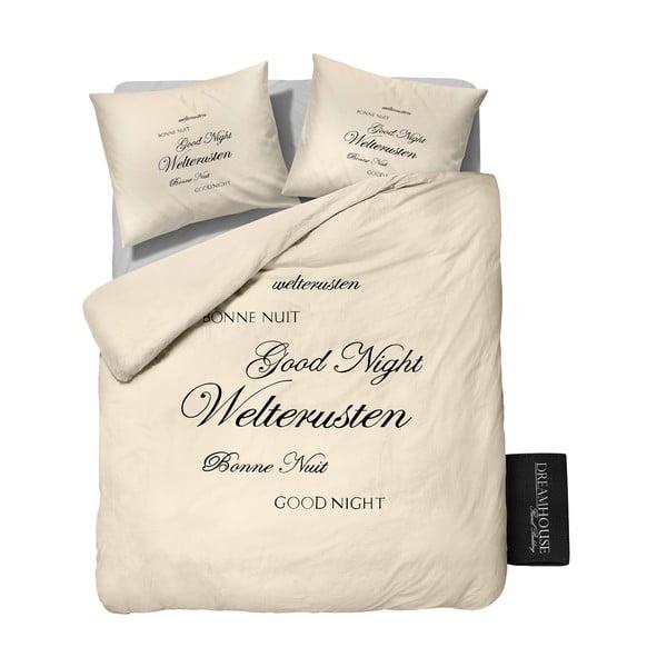 Flanelové obliečky Good Night 200x200 cm, krémové