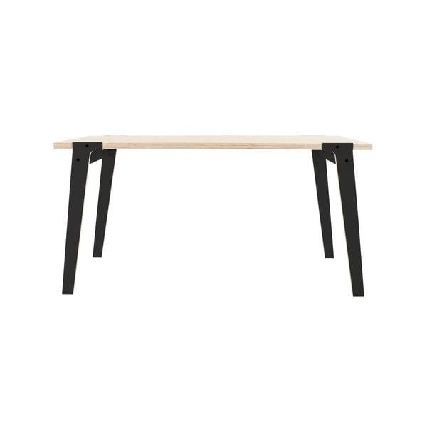 Čierny jedálenský/pracovný stôl rform Switch, doska 150x75cm