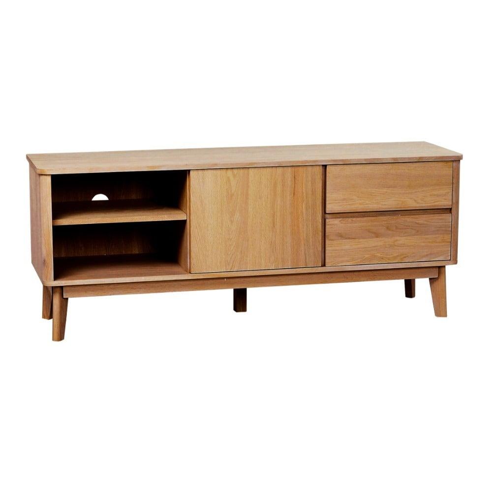 Prírodný televízny stolík z dubového dreva Yumi Folke