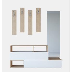 Drevená zostava do predsiene Charles Brown, šírka 137 cm