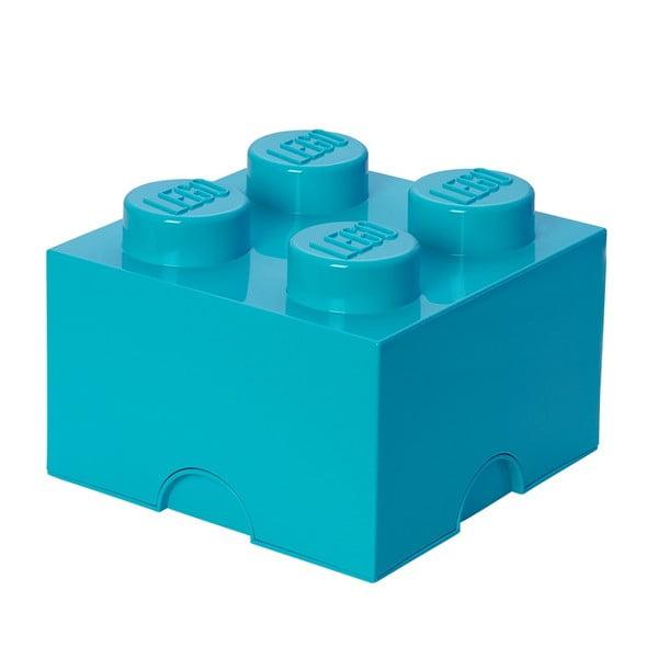 Azúrovomodrá úložná kocka LEGO®