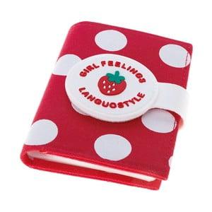 Puzdro na doklady Strawberry, červené
