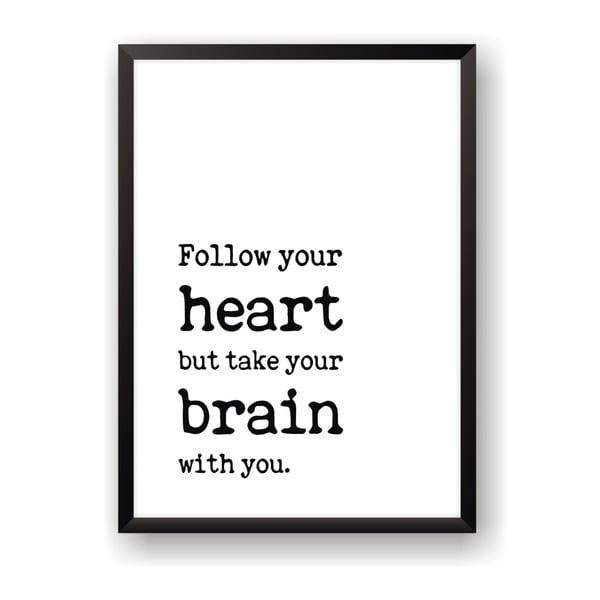 Plagát Nord & Co Follow Heart, 21 x 29 cm