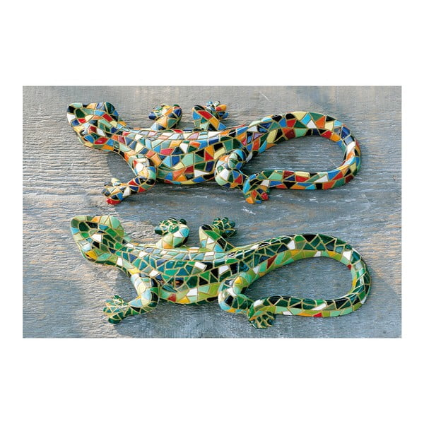Sada 2 dekoratívnych sošiek Exotic Lizards