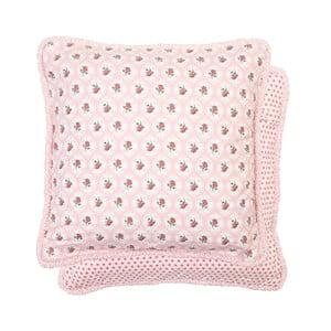 Ružová obliečka na vankúš Clayre & Eef, 40x40 cm