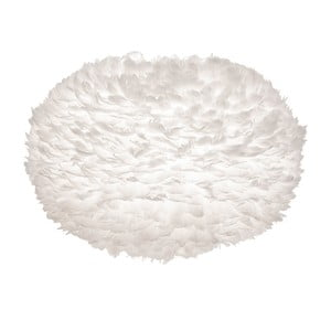 Biele svietidlo z husieho peria VITA Copenhagen EOS, Ø75 cm