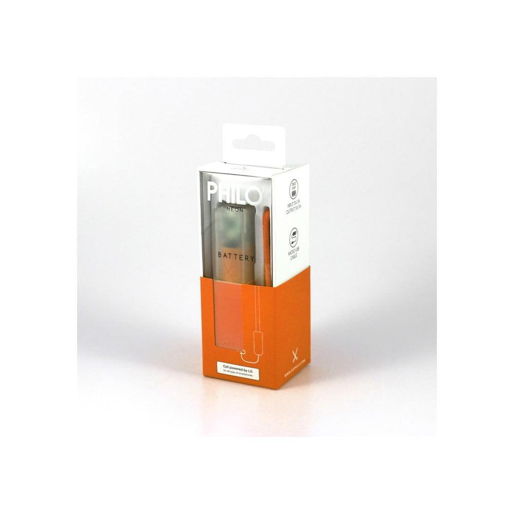 Oranžová powerbanka s pútkom Philo Easy
