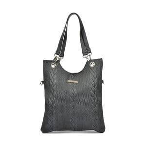 Čierna kožená kabelka Mangotti Casmina