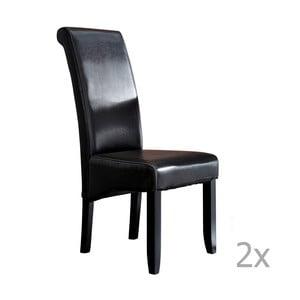 Sada 2 tmavohnedých jedálenských stoličiek 13Casa Chich