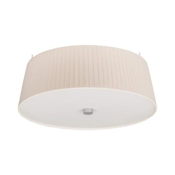 Krémové stropné svietidlo Bulb Attack Dos Plisado, ⌀36cm