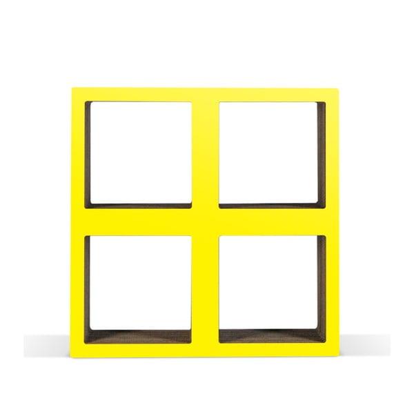 Malá kartónová knižnica Bit Square Yellow