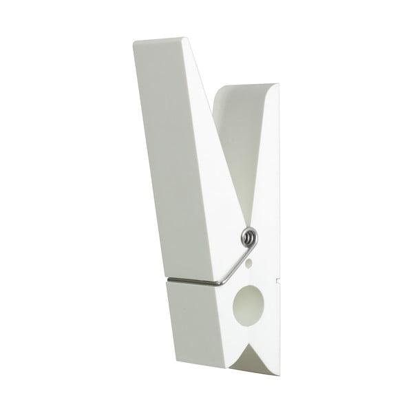 Biely vešiak v tvare štipca SwabDesign