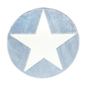 Modrý detský koberec Happy Rugs Round, Ø 133cm