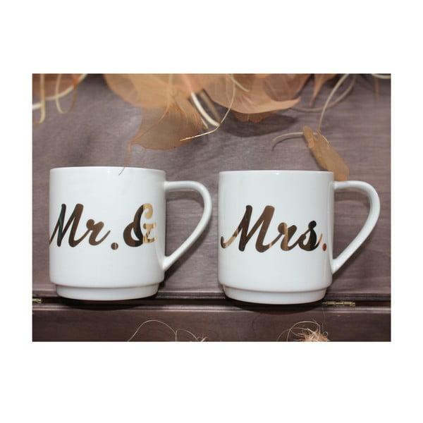 Sada 2 hrnčekov Mr & Mrs, 350 ml