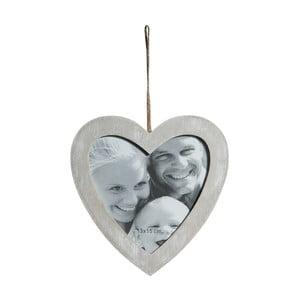 Drevený fotorámik v tvare srdca Biscottini