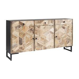 Hnedá komoda s 3 zásuvkami z mangového dreva Kare Design Tortuga
