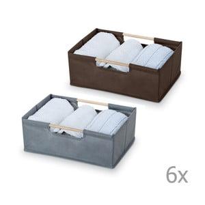 Sada 12 úložných boxov Bonita Basket, malé